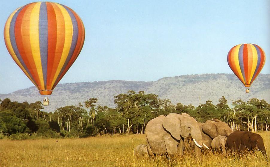 hot air baloon at masai mara