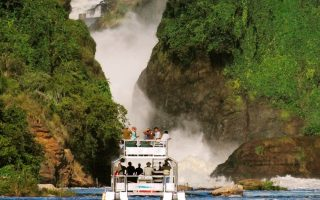Boat cruise in Murchison falls national park