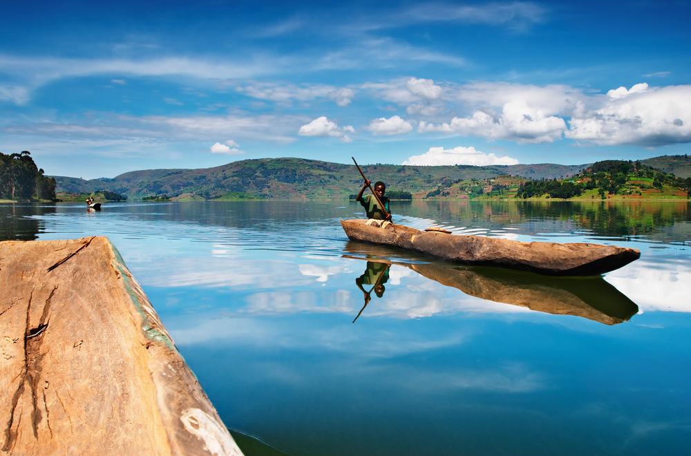 Canoe Ride on Lake Bunyonyi